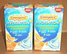 9/20 2 BOXES (36 ct) EMERGEN-C HYDRATION Electrolyte Replenishment ORANGE SPRITZ