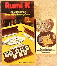 Vintage Parker Brothers Leaky Pipes Card Game & Cadaco Rumi K Rummy Game, ExCond