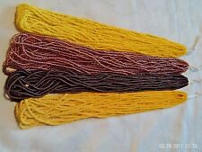 4 hanks of size 11/0 seed beads, rocaille, Preciosa, assorted colors