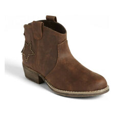 Nina Royce Boot Toddler Kid Little Girl Size 2M Cognac Brown Cowboy Ankle Boots