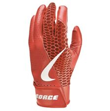 Nike BASEBALL Force Edge Batting Gloves Adult Medium Red/White
