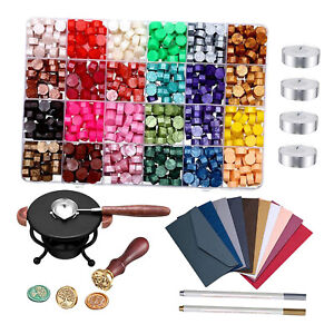 Sealing Wax Beads Stamp Kit For Retro Seal Stamp Wedding Envelope Letters
