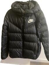 nike Reversable puffer jacket Black/white Size Small