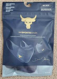 NEW Under Armour Project Rock Sports Mask +Iso-Chill Adult Sz:M/L 1368451-410