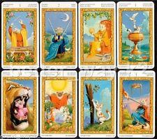 "Tarot of White Cat Card Deck 6 Language 79 Cards 4.5x7.5cm 1.8х3"" MINI +Tracking"