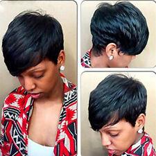 Black Wigs for Women Pixie Cut Short Brazilian Human Hair Wig Natural US STOCK