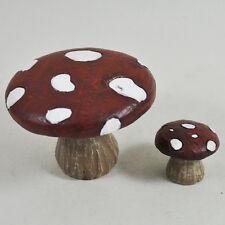 Mini Fairy Garden Mushrooms Miniature Decor Pixie Elf Accessory Ornament 39621