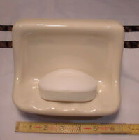 Glossy *Biscuit Color* Ceramic Soap Dish for tub or shower,  Mint New Stock,