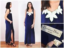 Vintage Christian Dior Paris Lingerie Maxi Long Chic Spring Beach Dress Summer M