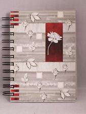 Adressbuch, Telefonbuch, Notizbuch 11 x 15 cm mit Register  A6 Rose Grau