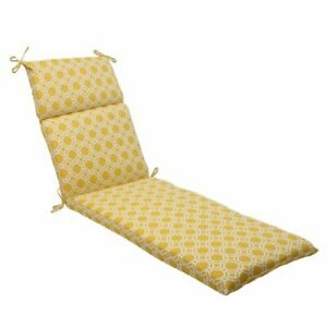 Pillow Perfect Outdoor/Indoor Rossmere Sunshine Chaise Lounge Cushion 72.5 in...