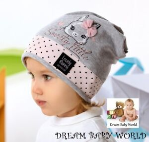 Rich cotton Baby GIRLS hats Beanie 6-12 12-24 months HAT KIDS Buttrerfly cap new