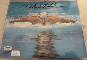 Michael Phelps Autographed 8x10 psa/dna