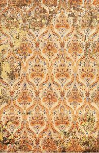 All-Over Versace Design Vegetable Dye Oriental Area Rug Wool/ Silk Handmade 9x12
