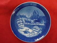 "1999 Royal Copenhagen Rc Christmas Plate "" The Sleigh Ride """