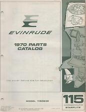 1970 EVINRUDE OUTBOARD MOTOR STARFLITE 115HP  P/N 279278 PARTS MANUAL (672)