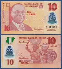 NIGERIA 10 Naira 2010 (Polymer) UNC  P.39 b