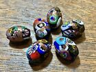 Murano 6 Glass beads made in Italy Millefiori Wrapped In Adventuring.