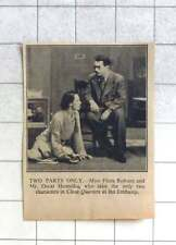 """1935 Miss Flora Robson And Mr Oscar Homolka, Characters In """"close Quarters"""""""