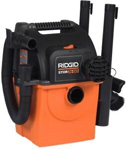RIDGID Wet Dry Vacuum 20 ft. Cord 120-Volt Wall-Mount Bracket Cartridge 5 Gal.