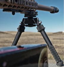 Rifle Bipod with Spike Feet & Handgrip. Adjustable leg, Rotating.,Quick Release