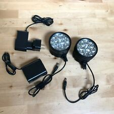 Two 9x CREE T6 LED with GoPro Mounts (for cycling or camera tripod mounting)