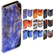 For Nokia Series - Planet Galaxy Print Theme Wallet Mobile Phone Case Cover