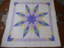 Hand Quilted Wall Hanging Star Quilt