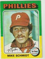 1975 Topps #70 Mike Schmidt card, Philadelphia Phillies HOF