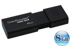 KINGSTON 8GB 8G Data Traveler DT100 G3 USB3.0 Memory Flash Pen Drive Stick Disk