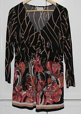 Autograph Women's Top - Black with print Long Sleeves Size 20