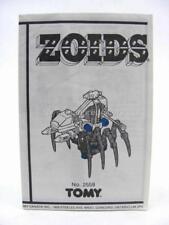 Zoids Zoid Vintage OER Instruction Sheet Fiche SPIDER Original