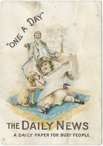 Chicago Daily News Cartoon Illustrated Trade Card Midwest American Newspaper