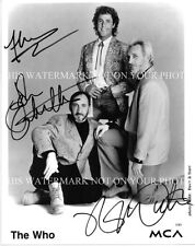 THE WHO GROUP AUTOGRAPHED 8x10 RP PROMO PHOTO DALTREY TOWNSHEND AND ENTWISTLE