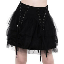 Killstar Gothic Goth Punk Tüllrock Spitze Minirock - Doom Doll Schnürung