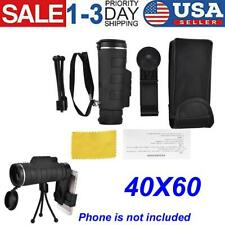 40X60 Zoom Optical Lens Monocular Telescope+Tripod+Clip for Cell Phone Durable