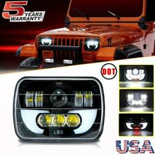 300W DOT 7x6 LED Headlight Projector Hi-lo For Jeep Cherokee Wrangler Wagoneer