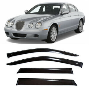 For Jaguar S-type Sd 1998-2008 Window Side Visors Sun Rain Guard Vent Deflectors