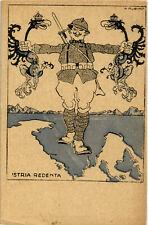 """WW1 WWI Franchigia - Rubino - Da la """"Tradotta"""" - """"Istria Redenda"""" - NV - R019"""