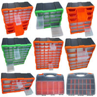Multi Unit Drawer Double Storage Cabinet Box DIY Workshop Tools Organizer Case