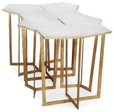 Contemporary Regina Andrew Design Gold Leaf Puzzle Coffee Table Set - 6 Pieces