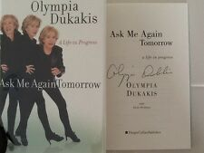Olympia Dukakis SIGNED Autobio Broadway Movie Star Steel Magnolias HC/DJ