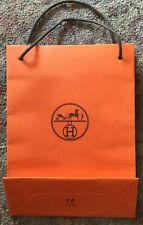 Hermes Paris Orange Empty Paper Bag 11 1/2 x 9 x 2 7/8 inches