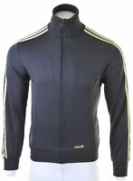 ADIDAS Mens Tracksuit Top Jacket Small Black Polyester  EW04