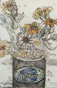 """J Baal """"Honey"""" Etching Signed #007/280 Country Primitive"""