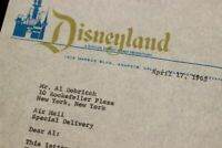 Disneyland City Hall 1965 Document Customer Relations Dobritch Circus St Louis