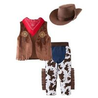 Kid Boys Halloween Cowboy Costume 4pcs Set Cosplay Event Dress Up Outfits