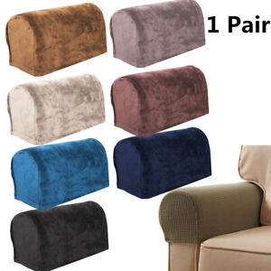 2pcs Removable Arm Stretch Sofa Couch Chair Protector Armchair Covers Armrest N