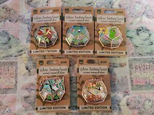 Disney Pins Where Fantasy Grows A Terrarium Series Set Of 5 Limited Edition