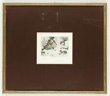 Gemälde: Nackte Frauen mit Flöte und Katze 32x27.5cm incl. Bilderrahmen #041
